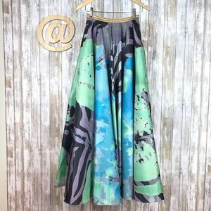 Geisha Designs Skirt Watercolor Ball Maxi Anthro